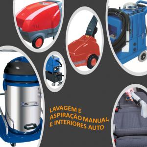 Lavagem e aspiração manual, interiores e exteriores auto
